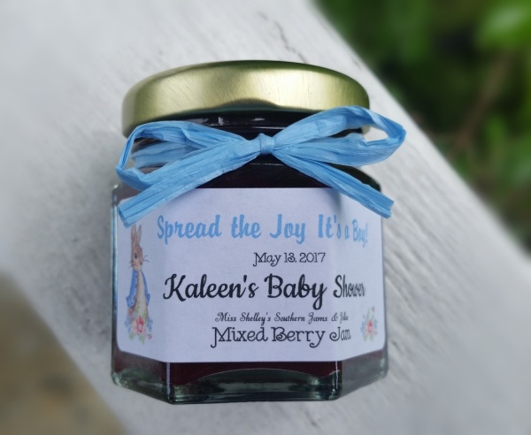 Baby Shower Mini Jam Favors