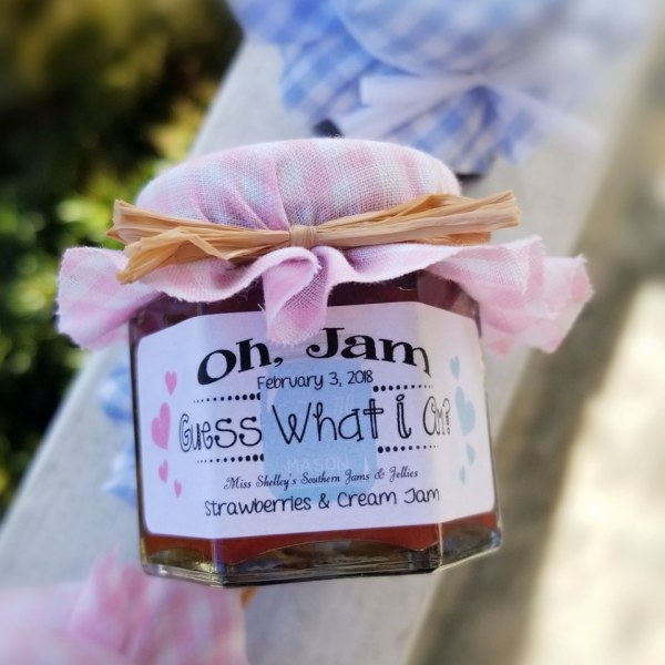 Gender Reveal Jam Favors - Baby Shower